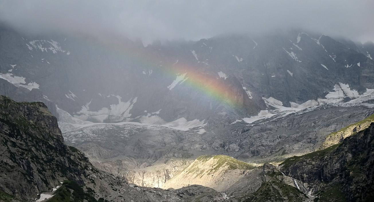 Regenbogen über La Fouly