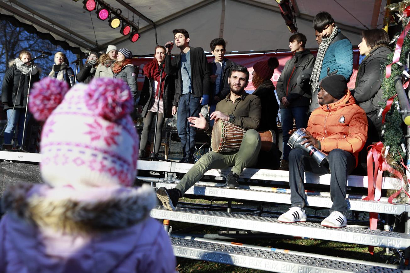 We perform auf dem Weihnachtsdürpel